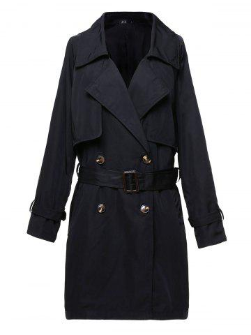 Womens Classic Trench Belt Coat Windbreaker