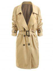 Womens Classic Trench Belt Coat Windbreaker -