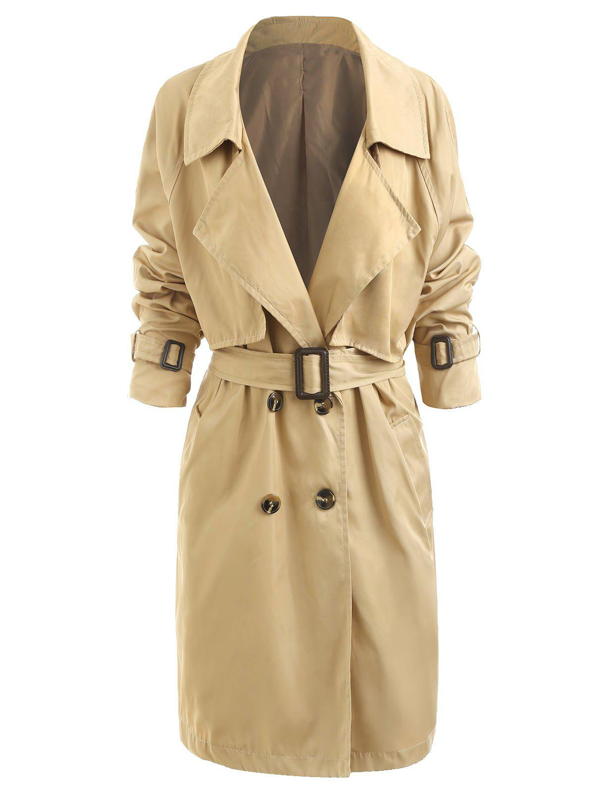 Affordable Womens Classic Trench Belt Coat Windbreaker
