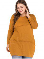 Plus Size Asymmetrical Cut Long Top -
