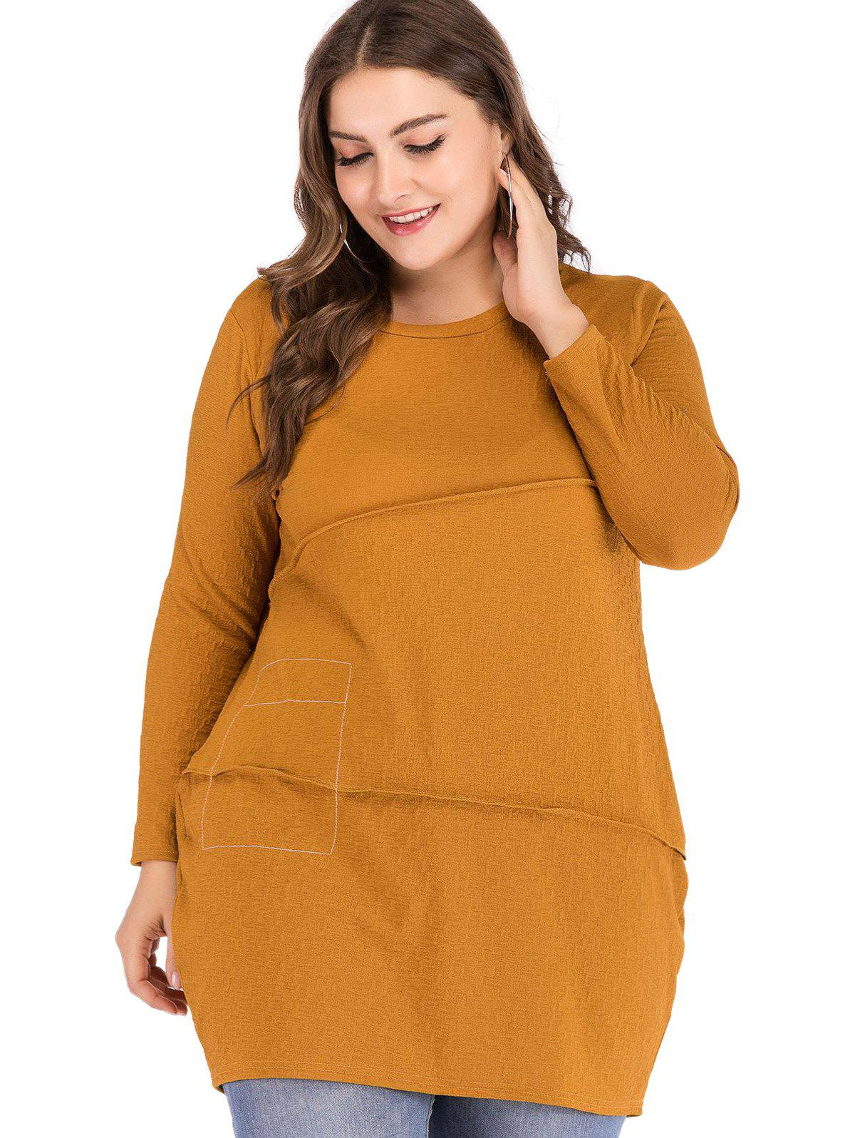 Discount Plus Size Asymmetrical Cut Long Top