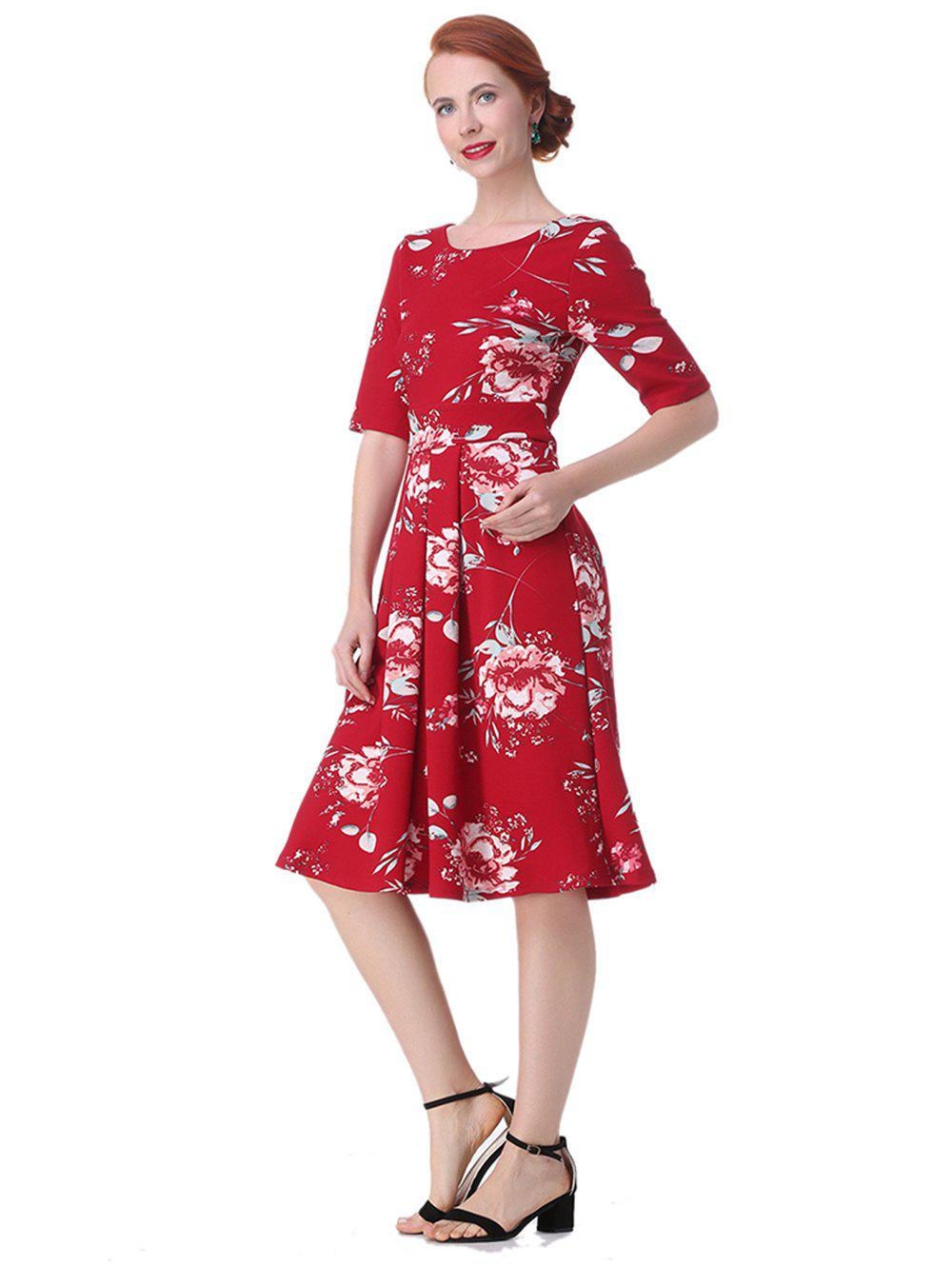 9471a55aee 37% OFF  Vintage Backless Floral Dress