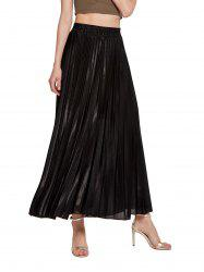 Womens Lurex Sunray Pleats A Line Skirt -