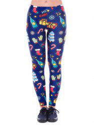 Womens Winter Digital Print Ugly Christmas Stretch Leggings Tights -