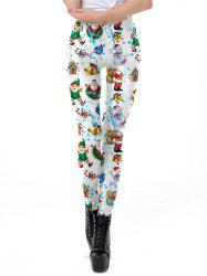 Womens Digital Print Ugly Christmas Stretched Leggings Tights -
