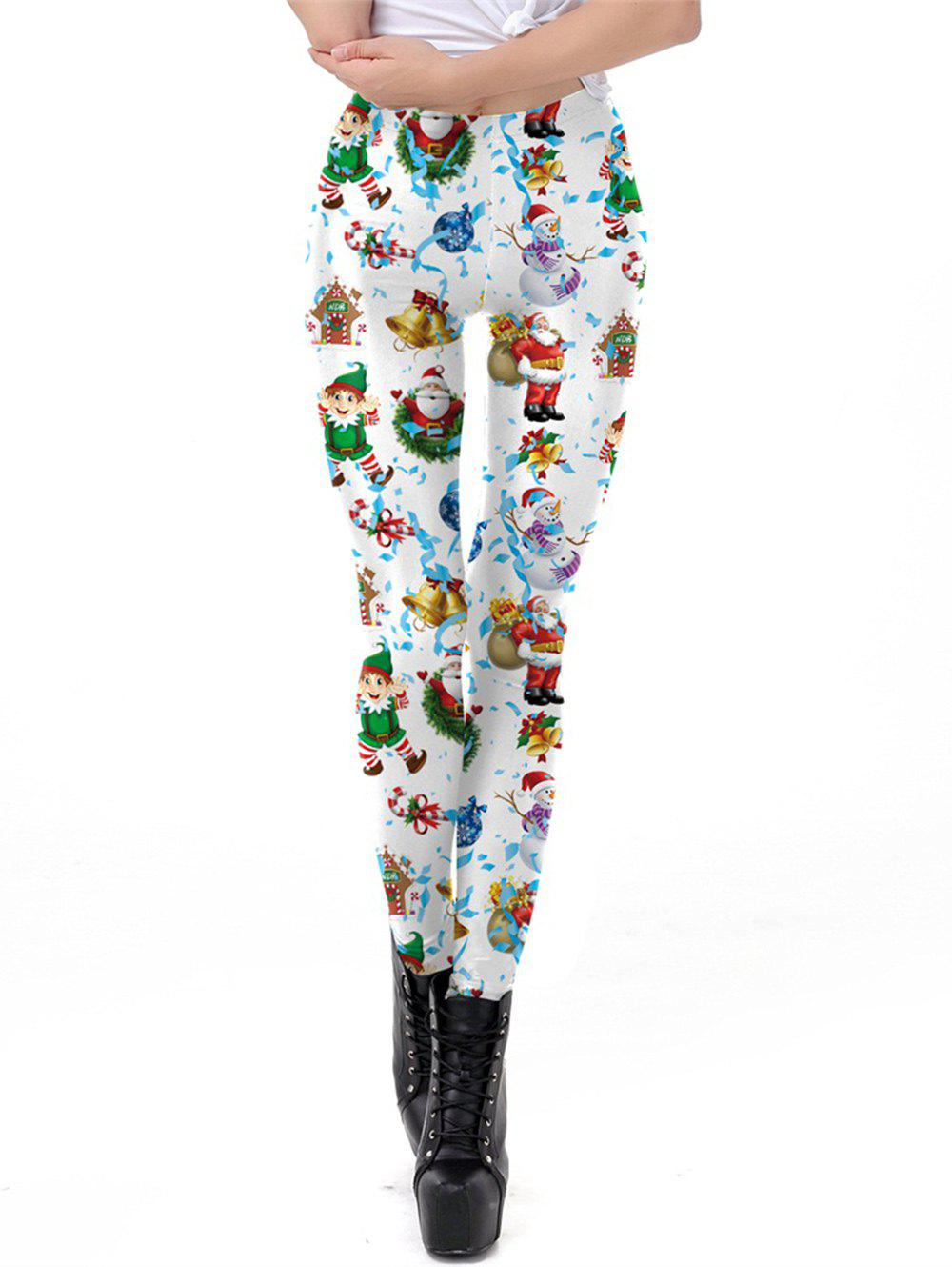 New Womens Digital Print Ugly Christmas Stretched Leggings Tights