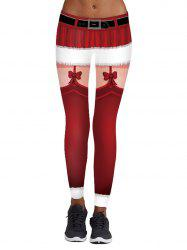 Womens  Fashion 3D Digital Print Ankle Length Skinny Leggings -