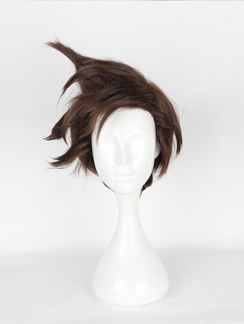 Discount Men's Cool Short Brown Cosplay Wig Short Game Coser Wigs