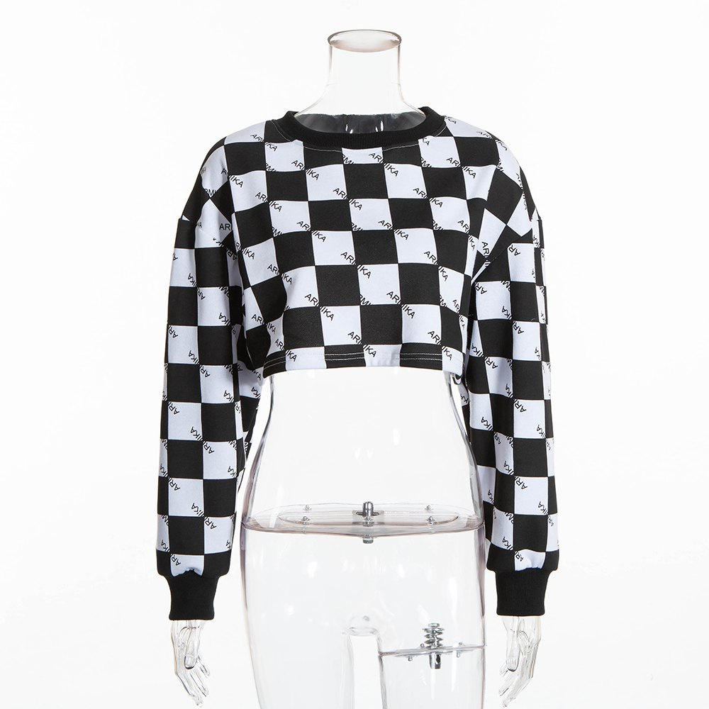 Best Letter Small Square Dew Navel Sweater