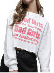 Lettered Turtleneck Sexy Crop Top -