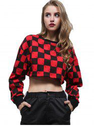 Letter Small Square Dew Navel Sweater -