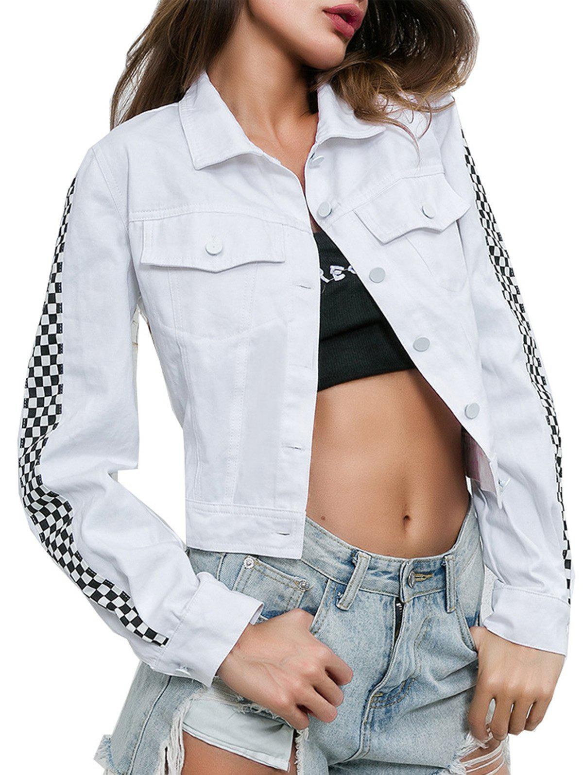 Affordable Open Umbilical Stitching Street Casual Jacket