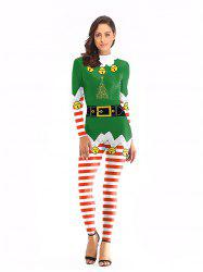 Womens  Christmas Matching Jumpsuit Cospaly Carnival Party Costume -
