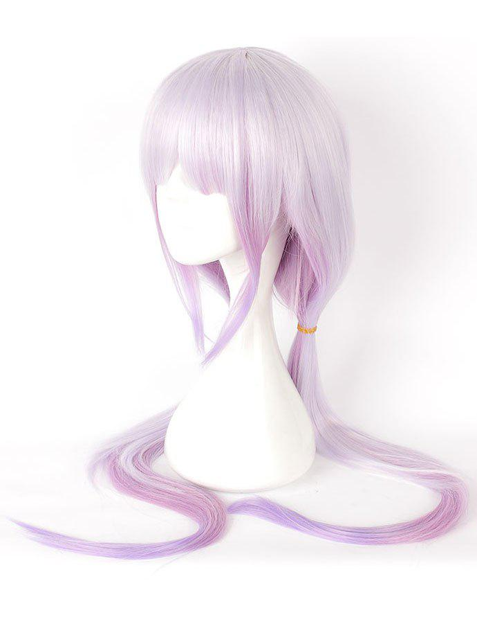 Buy Women's Fashion Colors Highlights Purple Long Straighter Cosplay Wig