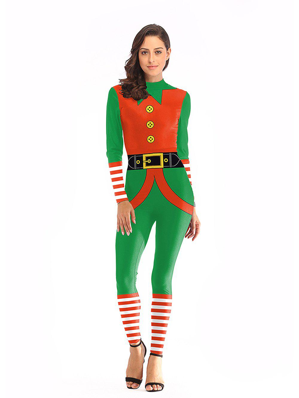 Shop Womens  Christmas Matching Jumpsuit Cospaly Carnival Party Costume