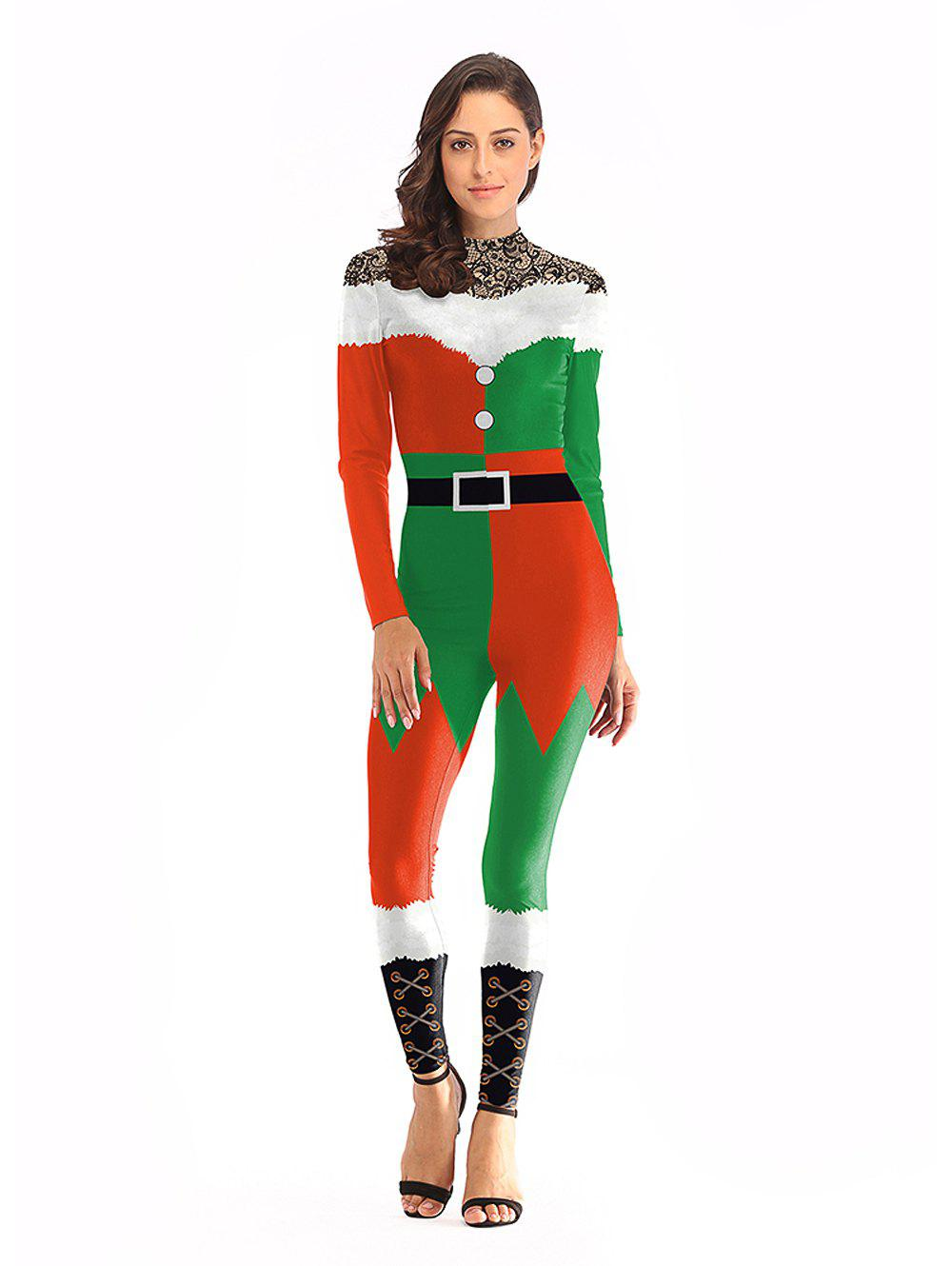 Christmas Jumpsuit Womens.Womens Christmas Matching Jumpsuit Cospaly Carnival Party Costume