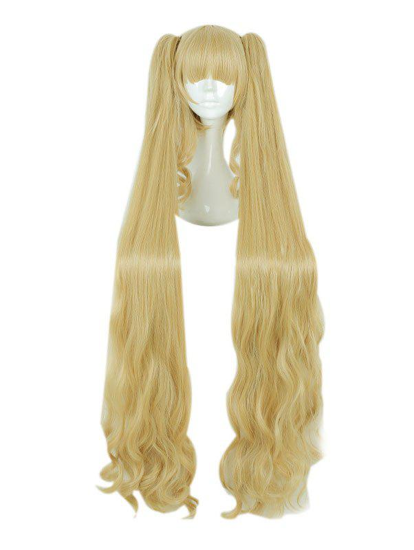 Chic Girl's 120cm Long Cute Gold Curle Cosplay Wig Party Hair Wig