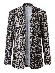 Women Fashion Animal Print Leopard Cheetah Formal Suit Jacket -