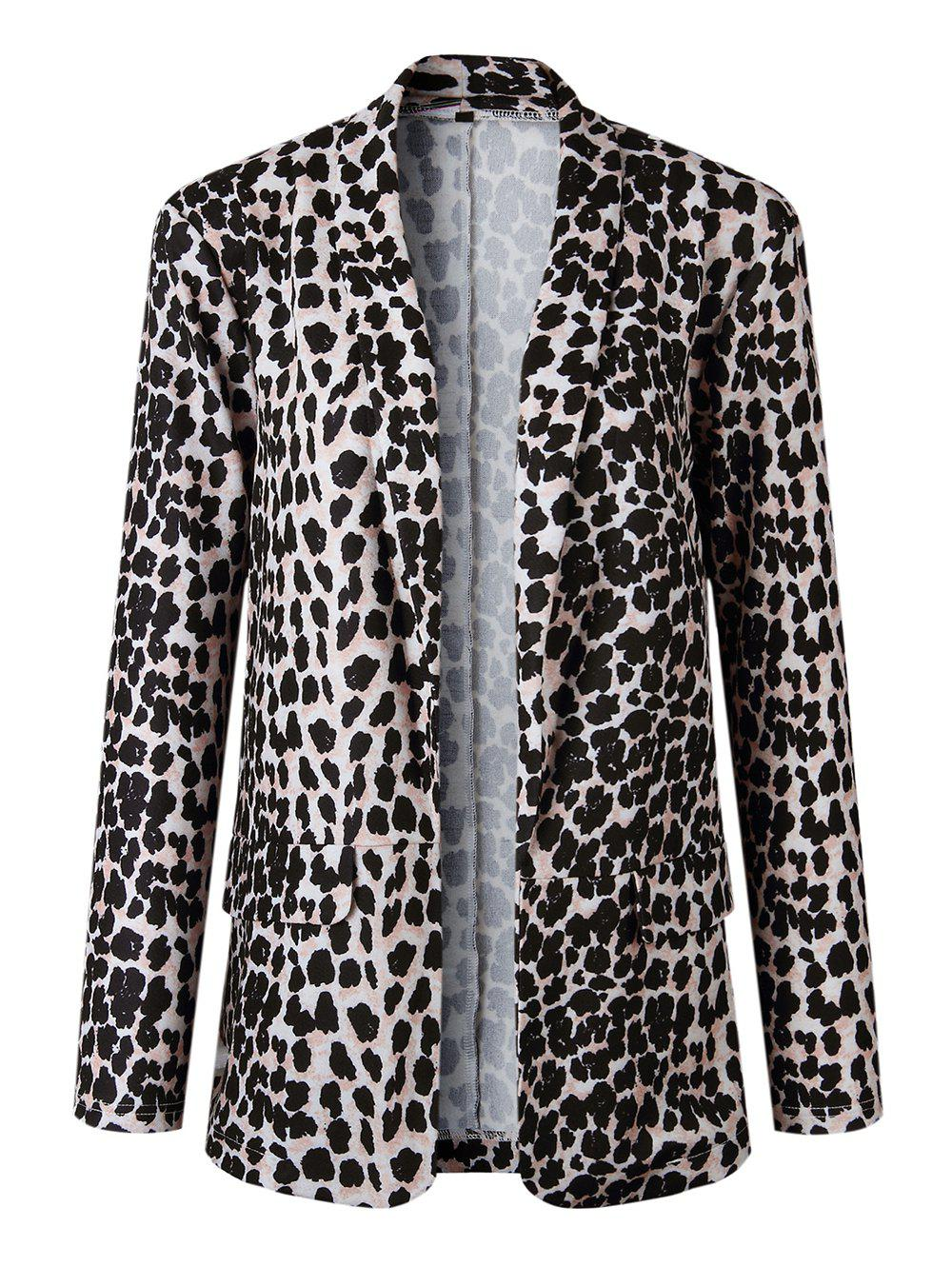 Latest Women Fashion Animal Print Leopard Cheetah Formal Suit Jacket