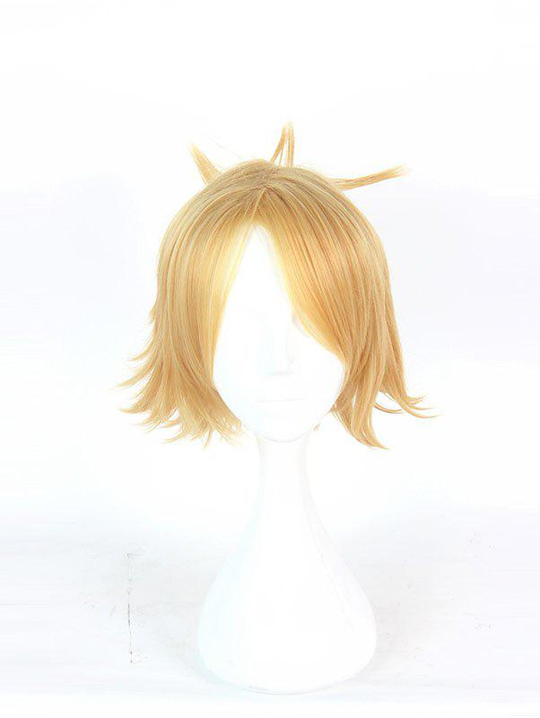 Sale Men's Gold Short Cool Cosplay Wig Costume Wigs