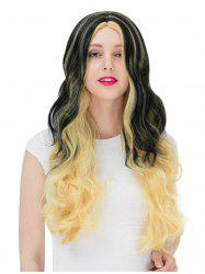Women's Fashion Colorful Highlights Wavy Hair Ladies Party Wigs -