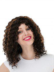 Women's Colorful Curly Short Hair Wig Highlights Casual Wigs -