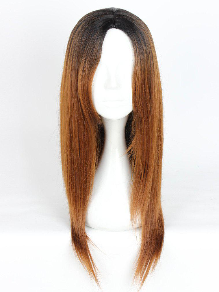 Store Women's Fashion Long Straight Highlights Hair Wig Colorful Casual Party Wig