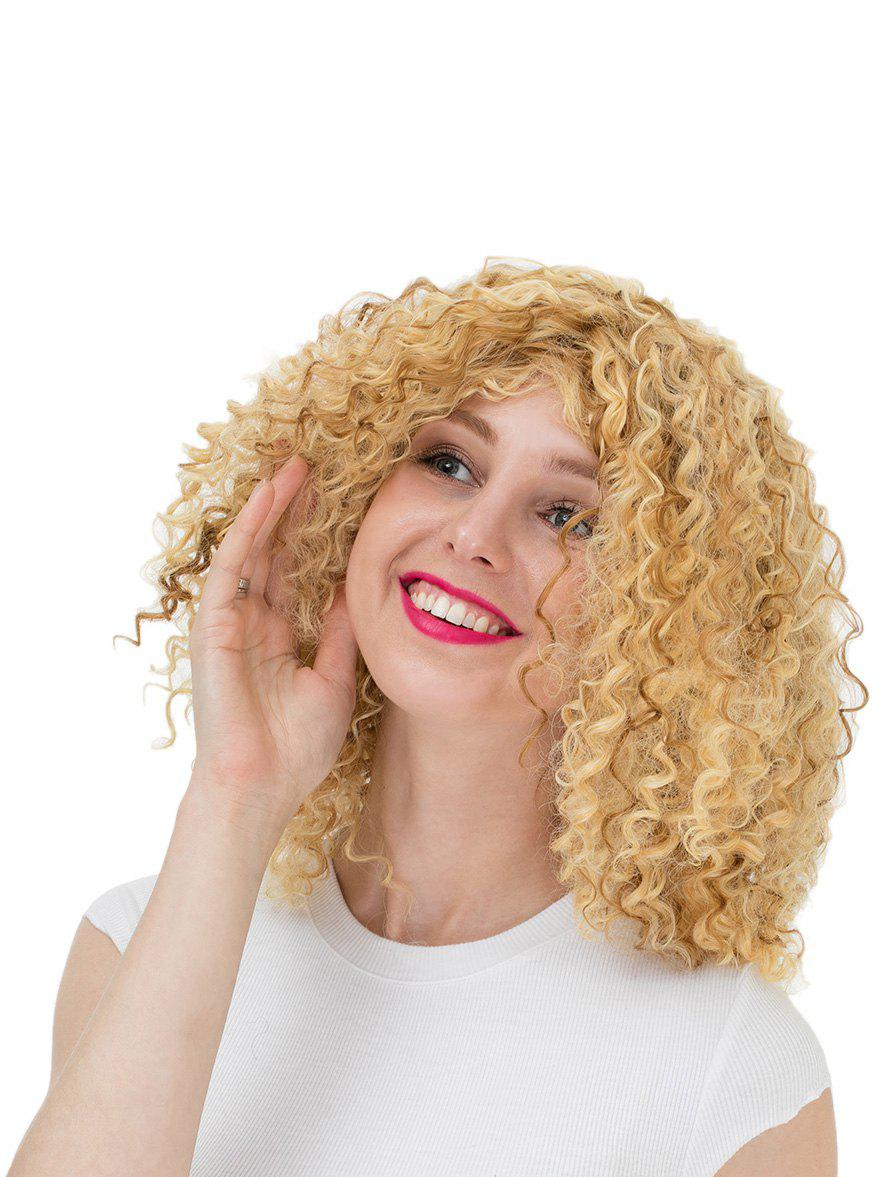 Hot Women's Colorful Curly Short Hair Wig Highlights Casual Wigs