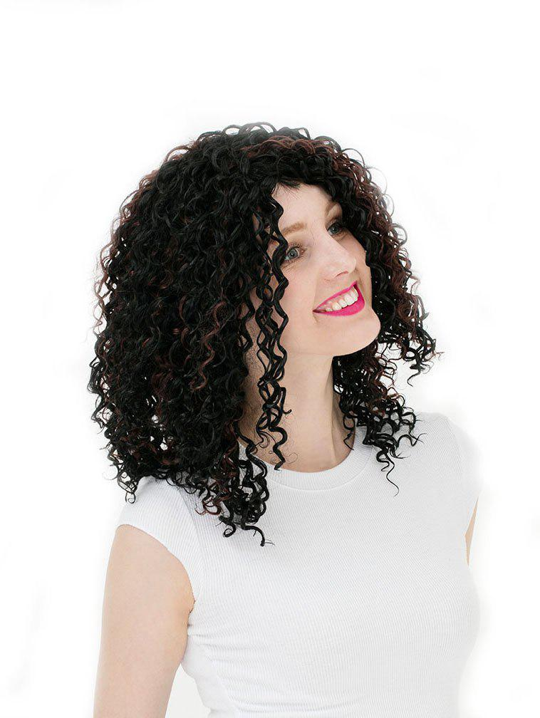 Shops Women's Colorful Curly Short Hair Wig Highlights Casual Wigs