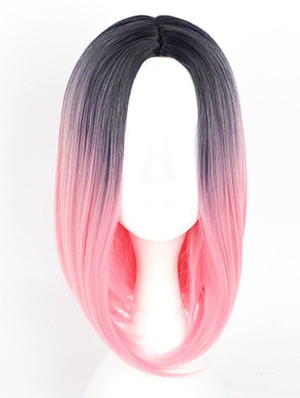 Outfit Women's Colorful Highlights Natural Straight Hair Wig Ladies Casual Short Wig