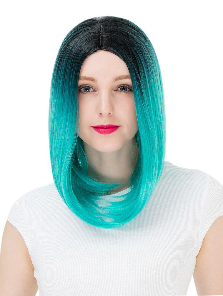 Outfits Women's Colorful Highlights Natural Straight Hair Wig Ladies Casual Short Wig