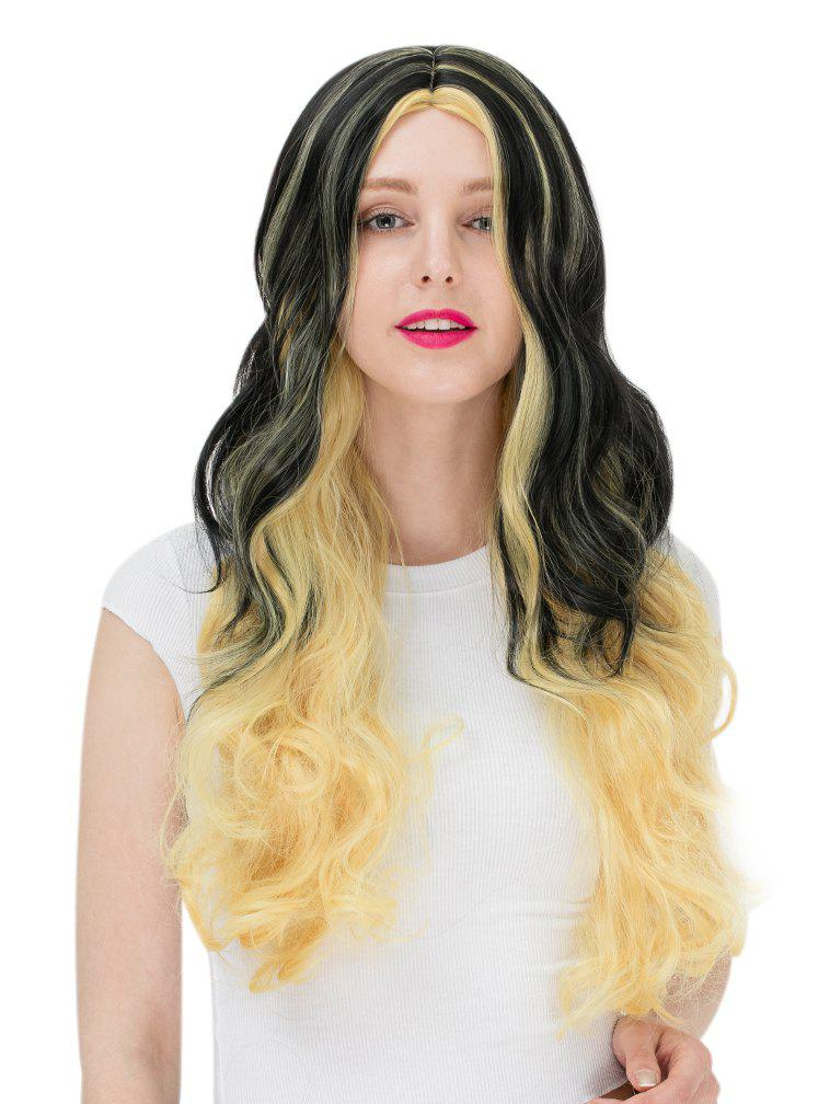 Best Women's Fashion Colorful Highlights Wavy Hair Ladies Party Wigs