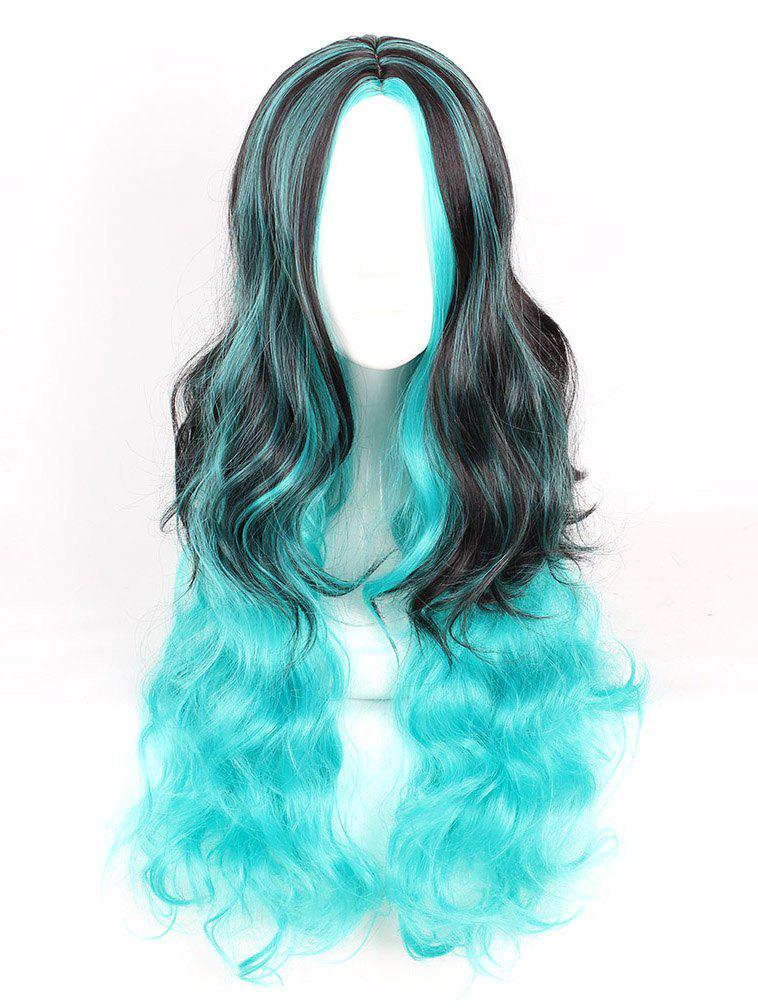 Shop Women's Fashion Colorful Highlights Wavy Hair Ladies Party Wigs