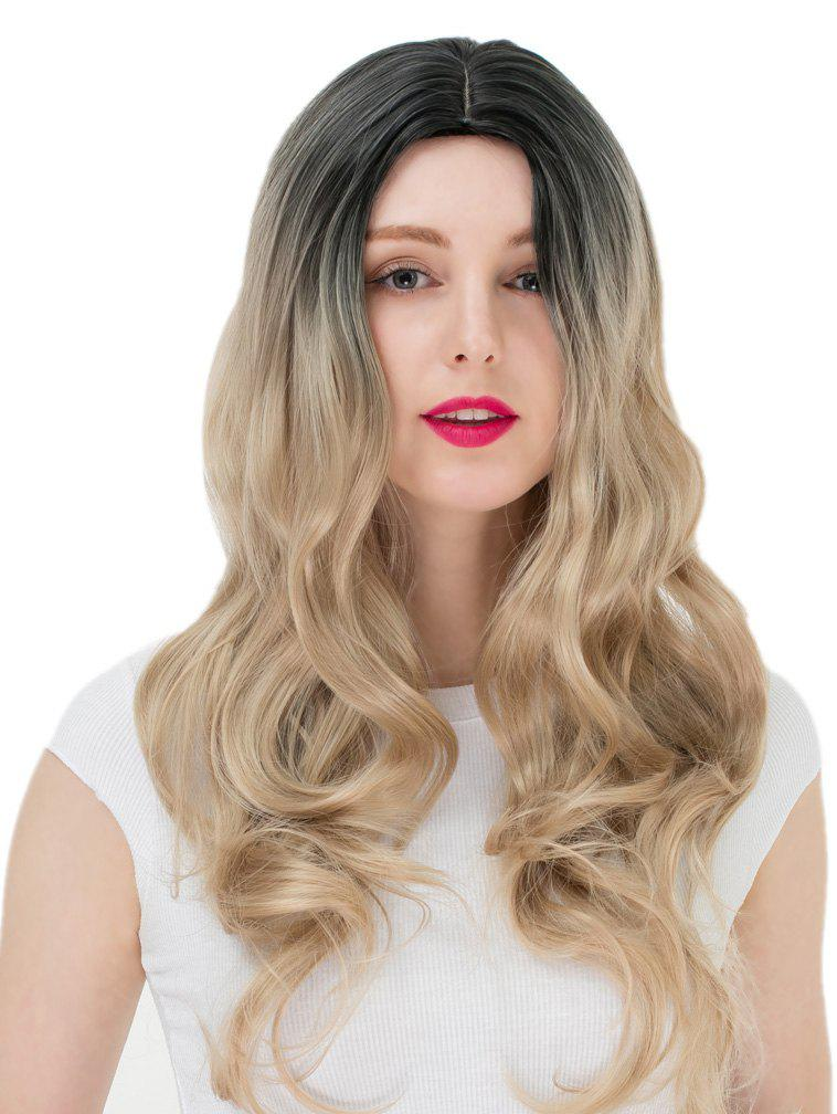 Chic Women's Long Wavy Highlights Hair Wig Party Wigs