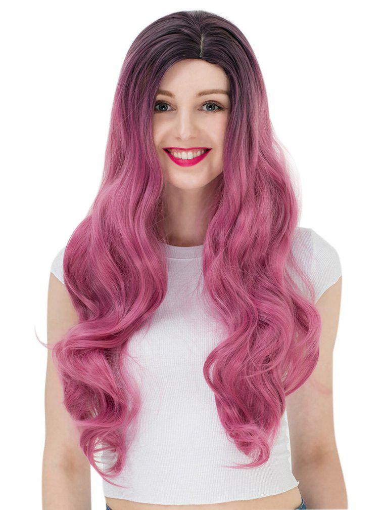 Trendy Women's Long Wavy Highlights Hair Wig Party Wigs