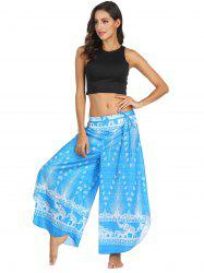 Womens Casual  Print Wide Leg Sexy Yoga Pants Polyester Bloomers -