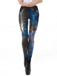 Womens Fashion Star Print Leggings Sexy Long Elastic Pencil Pants -