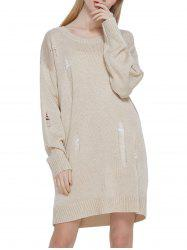Hollow out Blended Sweater Dress -