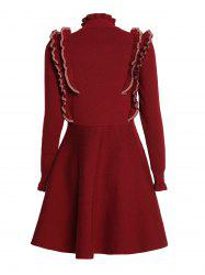 Covering Yarn Flared Dress -