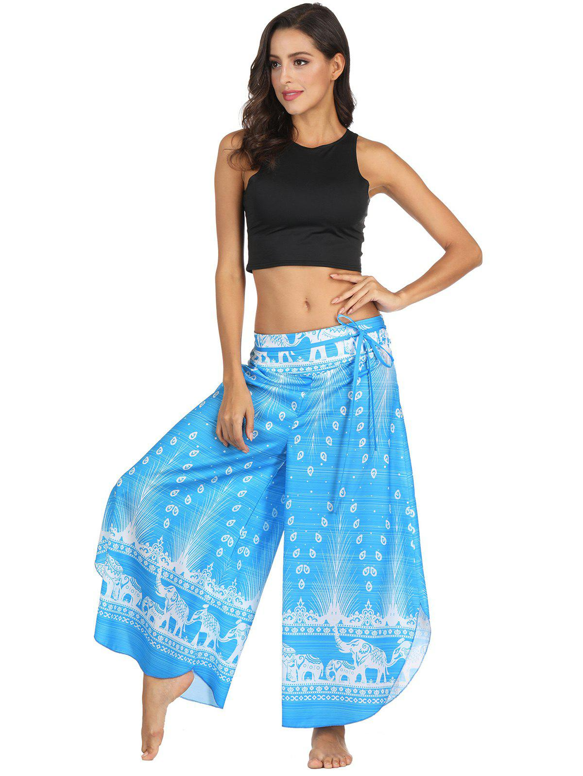 Buy Womens Casual  Print Wide Leg Sexy Yoga Pants Polyester Bloomers