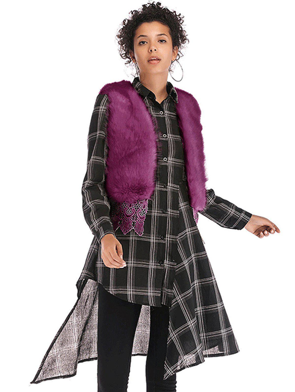 Outfits Women  Faux Mink Cashmere Winter Fur Shawl Cape  Overcoat Vest Fur Coat