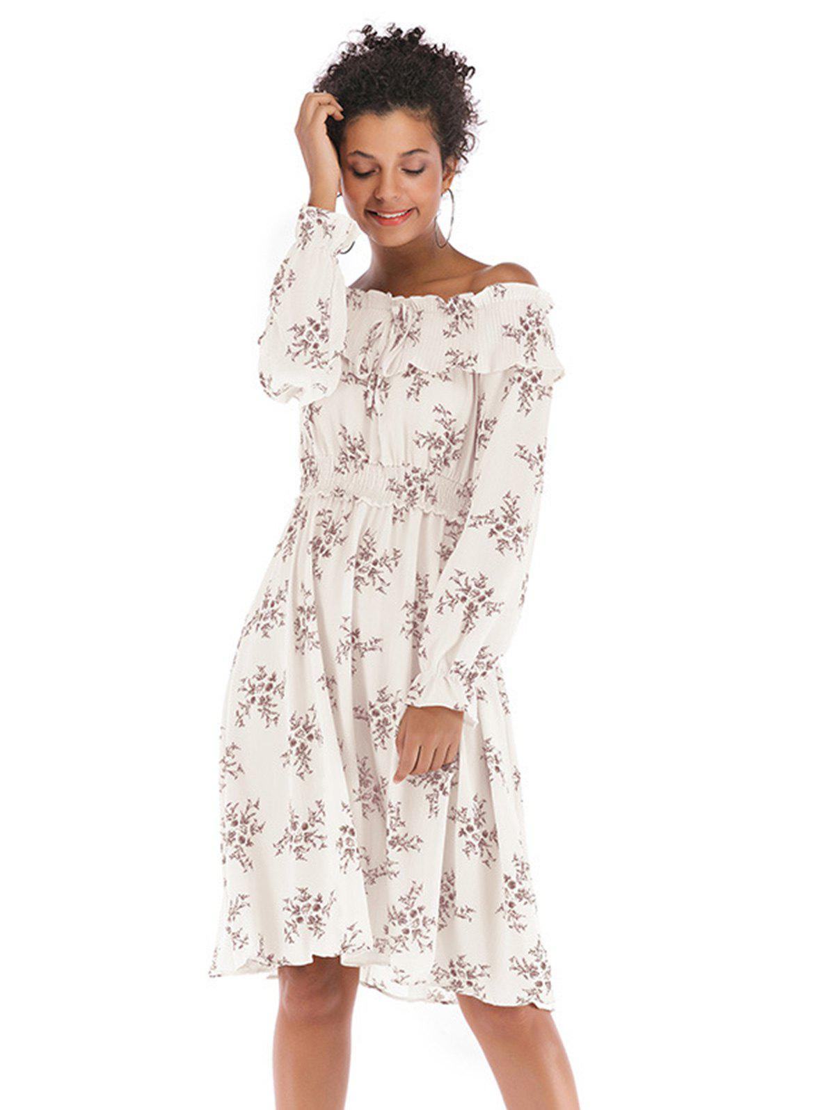 Trendy Women Off Shoulder Fit Comfy Floral Casual Dresses