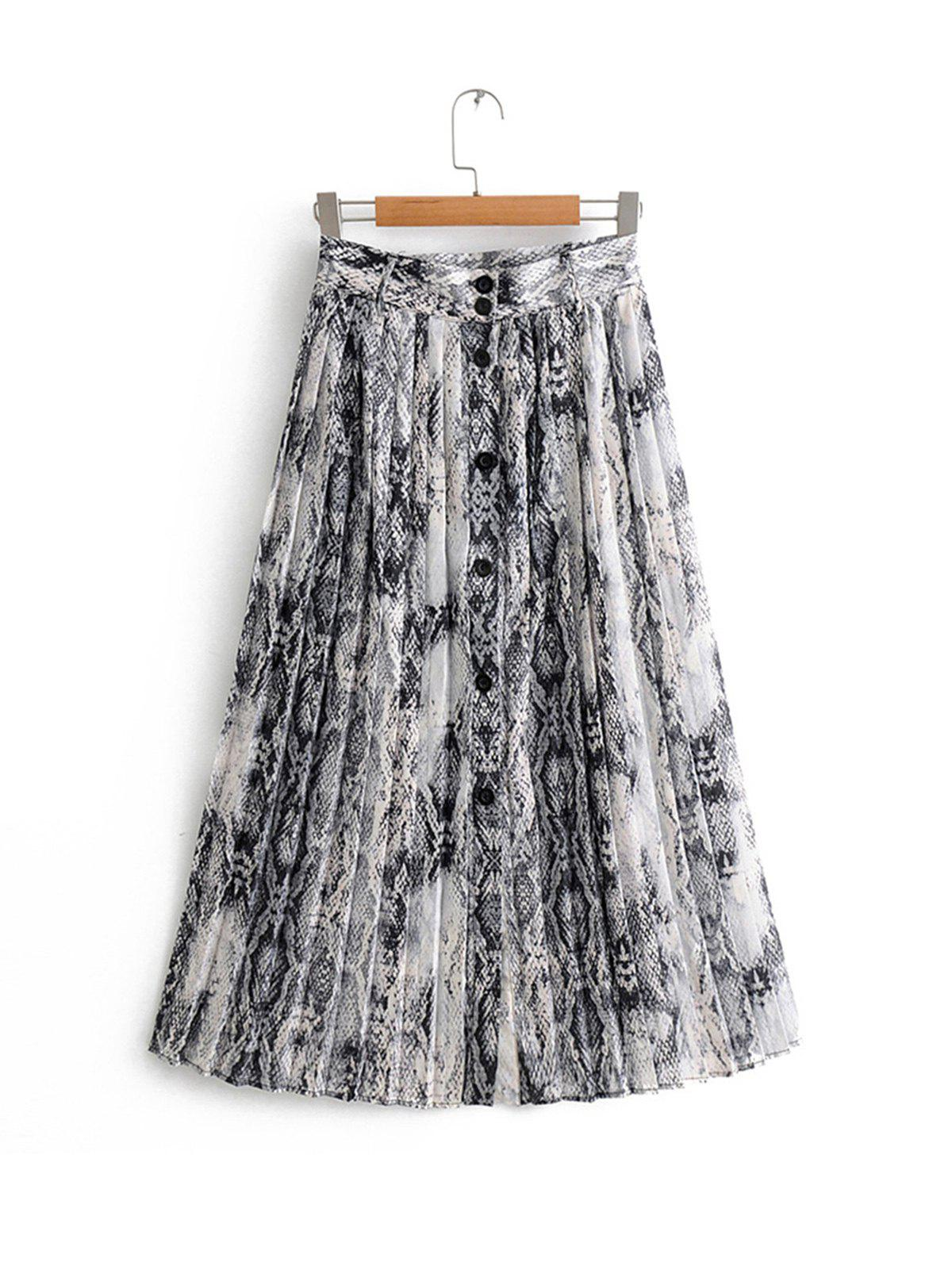 Store Pleated Animal Floral Skirt