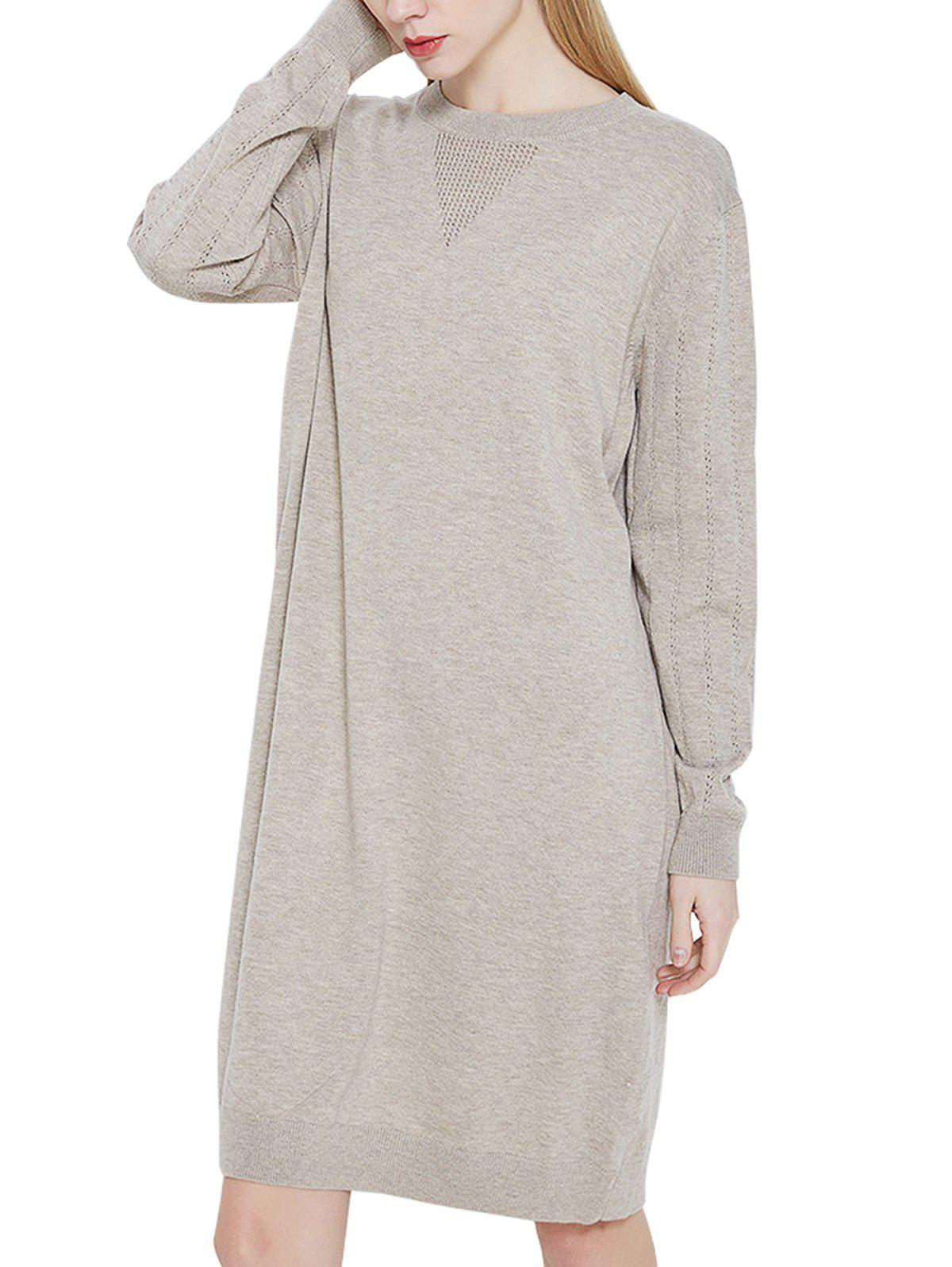 Online Casual Blended Sweater Dress
