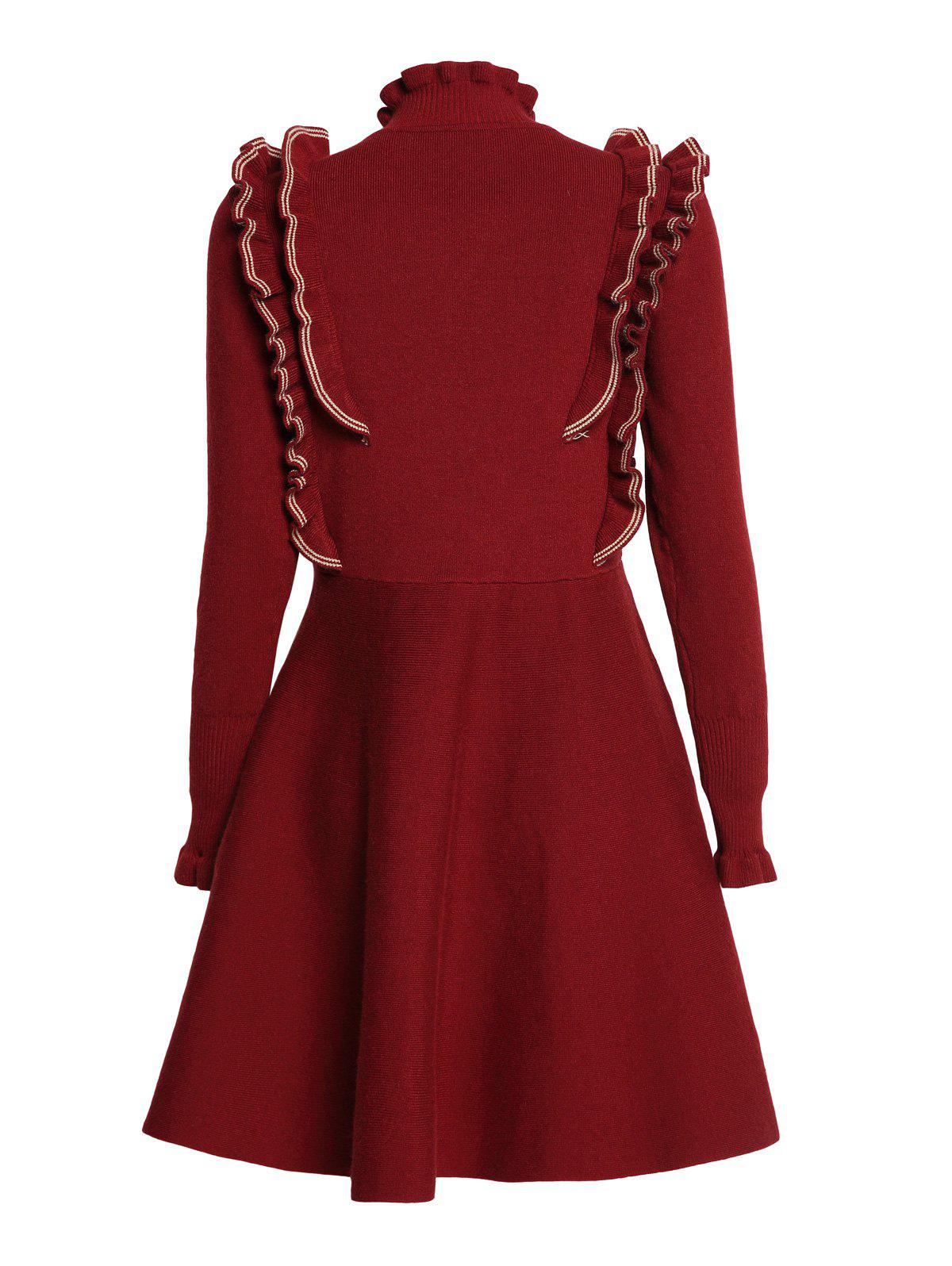 Cheap Covering Yarn Flared Dress