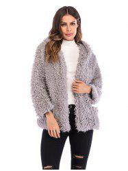 Fluffy Hooded Coat -