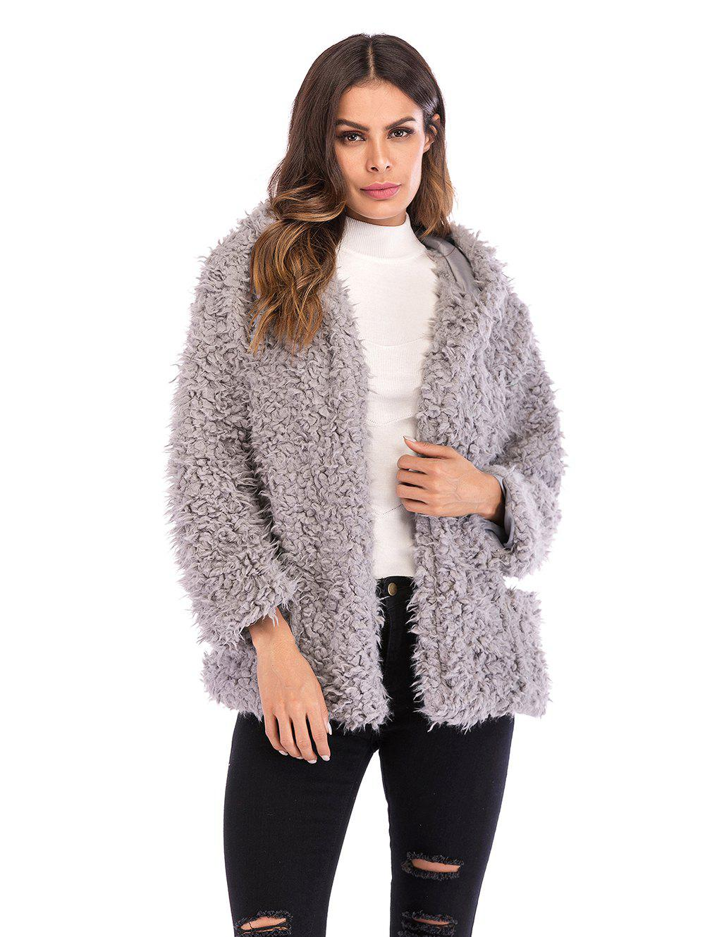 Outfit Fluffy Hooded Coat