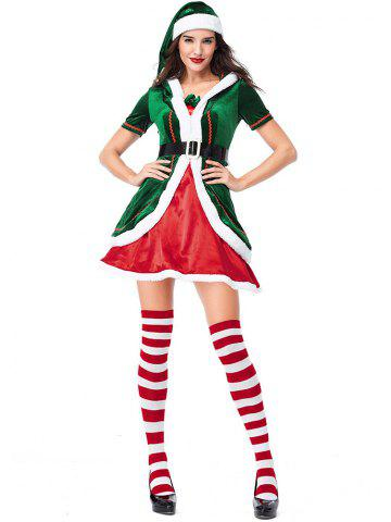 Women s Christmas Party Costumes Dress Cosplay Elf Clothes Sets 958316f4d