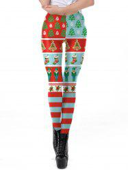 Womens Christmas Leggings Super Soft 3D Design Printing Pants -