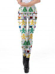 Womens Christmas Leggings Super Soft 3D Design Printing Elastic Pants -